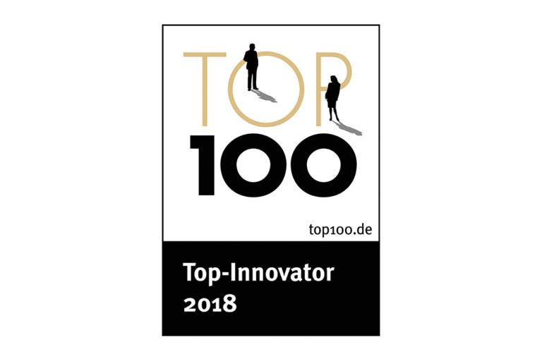 """Ocenenie """"Top 100 Innovator 2018"""" pre spoločnost Schwank GmbH."""