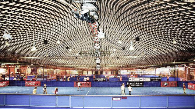 Schwank sports hall heaters in operation