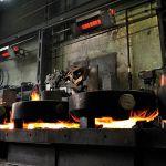 Svetlý žiarič primoSchwank značky Schwank v ocelárni.