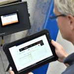 Ovládacia jednotka SchwankControl Touch vyvinutý společnosťou Schwank.