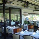 Terasový ohrievač terrasSchwank na terase reštaurácie.